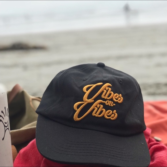 SD Collective Mercantile Accessories - NEW Black unstructured Vibes on Vibes dad hat